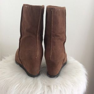 Sugar Shoes - Women's Leather Platform Boots